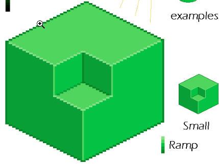 Pixel Art Tutorial - Isometrischer und maßgleicher Schatten