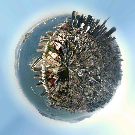 Erstelle deinen eigenen Planeten mit Panoramafotografien in Photoshop